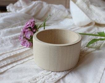 40 mm wooden bangle  / unfinished wood  bracelet / diy wooden jewelry
