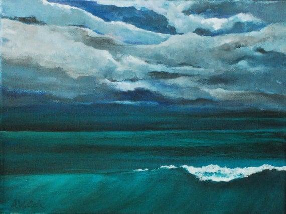 Tormenta - Storm at Sea Painting - Ocean Art