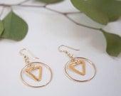 14k Gold Filled Geometric Earrings