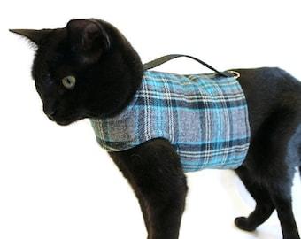 Cat Harness - Plaid Cat Harness - Cat Clothes - Cat Harnesses - Cat Clothing - Clothes for Cats - Harnesses for Cats - Cat Jacket - Cat Coat