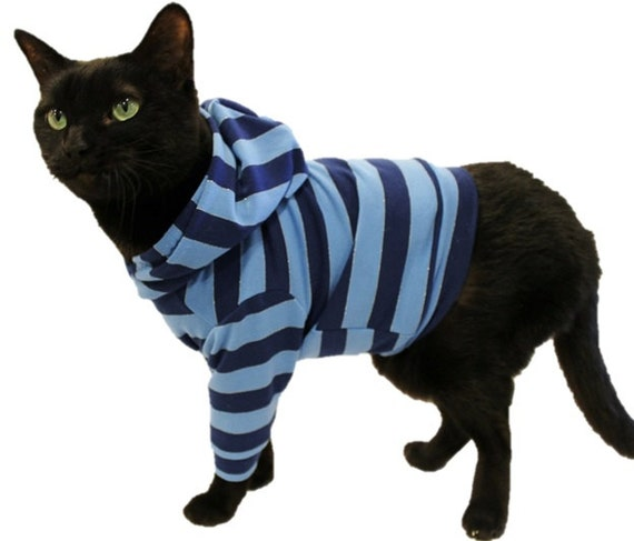 cat hoodie cat clothes striped cat hoodies cat clothing