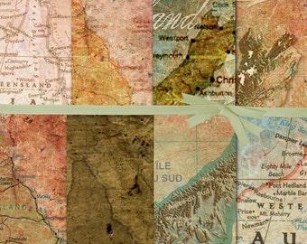 MAP DIGITAL PAPER:New Zealand Map Digital Paper, Australian Map Digital Paper, Bachelor Party Digital Paper, Digital Paper Sale, #15017