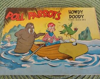 A872)  1951 Howdy Doody Poll Parrot Comic Book No. 3
