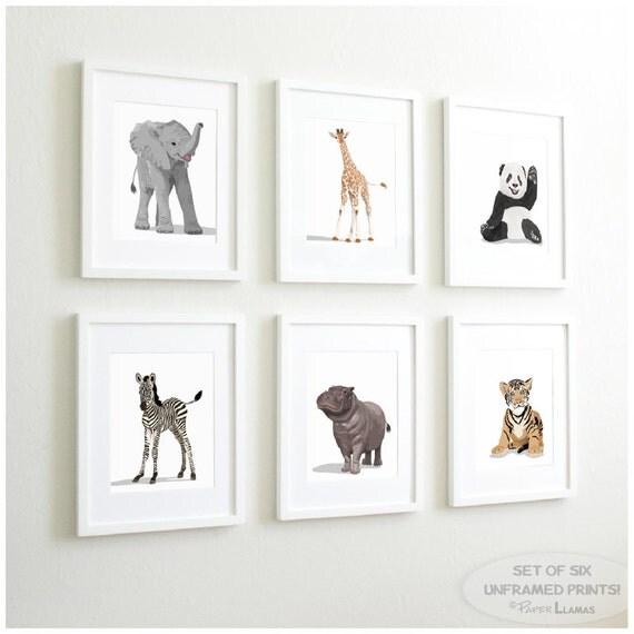 Safari Nursery Ideas: Zoo Animal Nursery Prints Safari Nursery Decor By PaperLlamas