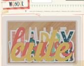 Crate Paper Wonder - Die Cut Phrases -- MSRP 3.00