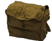 Vintage Army Surplus Russian WW2 Multi Pocket Haversack Bag Case GP5 PDFD Red Army Gas Mask Sack