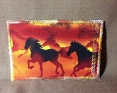 Fabric Postcard Horses