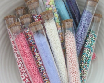 250  Clear Test Tubes and Corks - Candy Favor - Wedding - Party  Birthday Favors  Smart and Fun