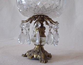 Hollywood Regency Crystal Dish