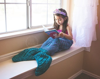 Mermaid Tail blanket for Toddler + Child