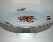 Princess House cake stand  floral  china cake/dessert stand Barvarian china