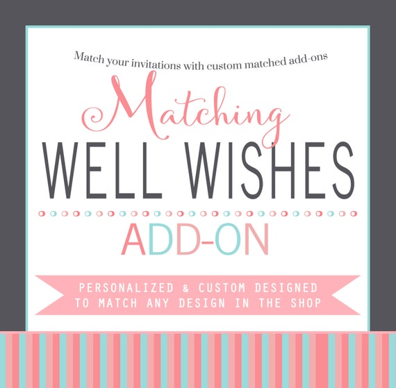 Wishes baby shower game custom matching, Advice new baby keepsake printable or printed activity card