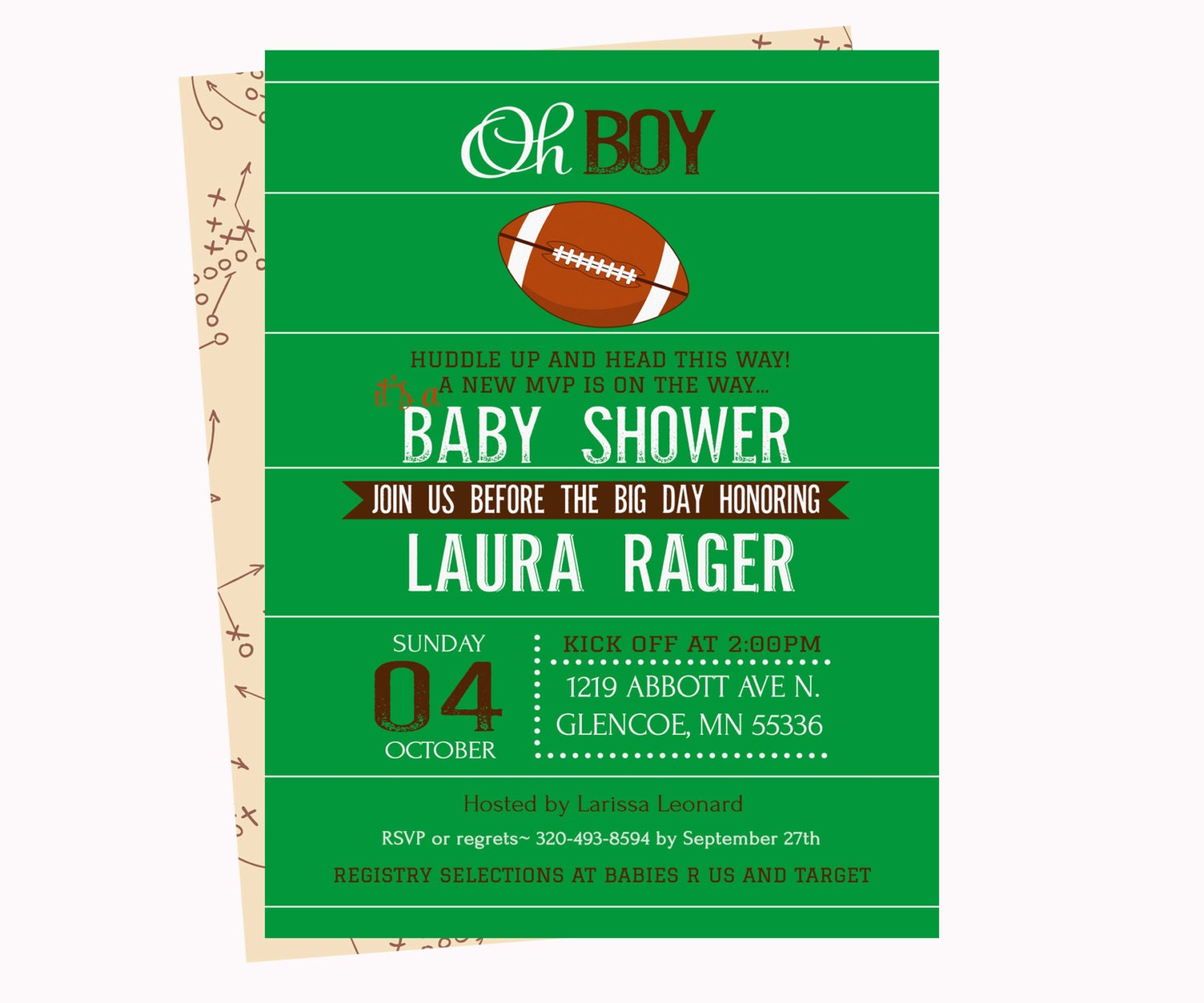 football baby shower invitations baby boy by papercleverparty