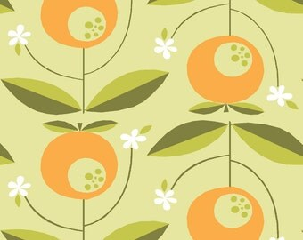Juicy CANVAS - Tang - Organic Cotton - Monaluna Fabrics (JUC-04-BLT) - 1/2 Yard