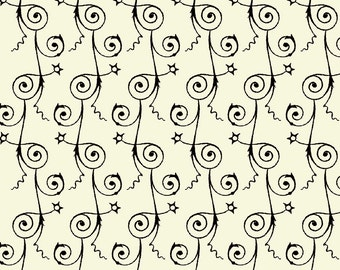 Sew Scary - Swirly Stripe in Eggshell - Quilting Treasures - 23862-E - 1/2 yard
