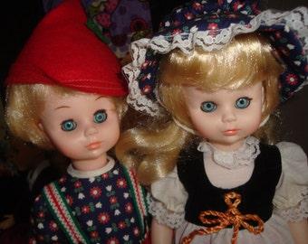 "Kehagias Hansel & Gretel 13"" vintage dolls"