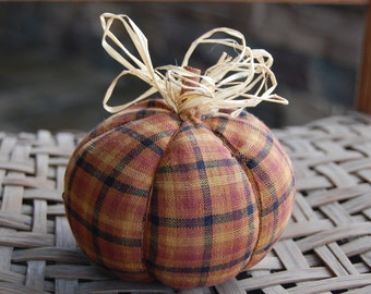 Fall homespun fabric pumpkin