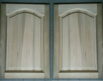 Pair of Solid Birch Cabinet or Armoire Doors