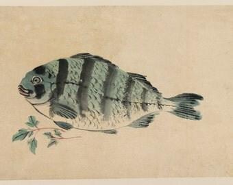 Japanese Art. Fine Art Reproduction. Hiroshige - Fish - Fine Art Reproduction