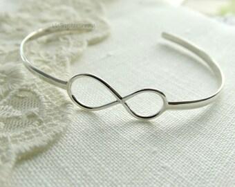 Infinity Bracelet Sterling Silver Infinity sterling silver infinity cuff bracelet