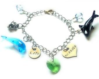 Inspired Free! Haru & Makoto Charm Bracelet