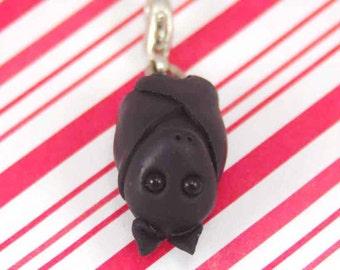 bat charm kawaii polymer clay miniature animal jewelry polymer clay animal charm party charm halloween charm halloween bat necklace black