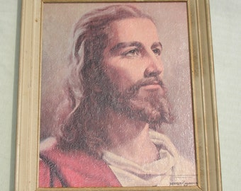 Large Beautiful Jesus Portrait - 1959 Signed