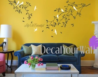 Tree Branch Wall Decal Birds Large Stickers Bedroom Living room Decals Nursery Wall Art Home Decor Floral Flower Removable Vinyl Sticker