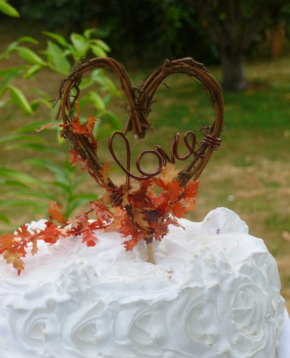 fall leaf wedding cake topper fall wedding cake topper with or without leaves by 14147