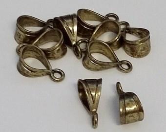 Antique Gold Bails 9 x 19 mm Q