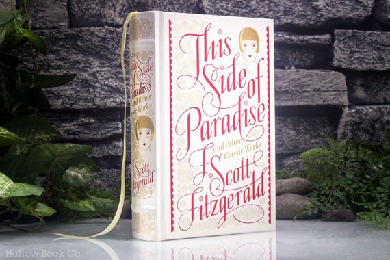Hollow Book Safe - This Side of Paradise - F. Scott Fitzgerald (LEATHER BOUND) - Magnetic