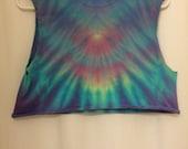 Pastel colored tie dye crop top
