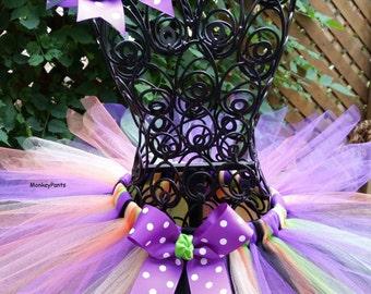 Baby Witch Costume Tutu  - Baby Girl Halloween Tutu - Toddler Girl Halloween Costume - Photo Prop