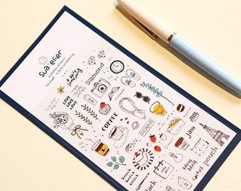 Diary Scrapbook Suatelier Sticker Label A Daily Something