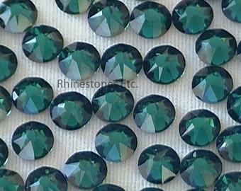 Emerald 16ss Swarovski Elements Rhinestones Flat back 36 pieces