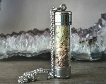 Craft Beer Necklace - The IPA - Stainless Steel Vial Necklace - The ALEchemy Line by Diamonds and Coal