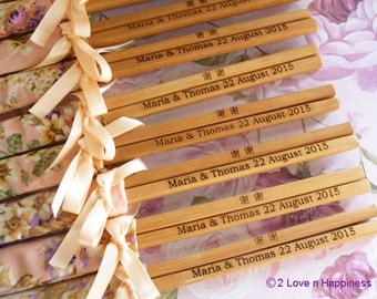 Personalised Engraved Chopsticks Party/Wedding Favours (min 20 pairs)