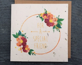 For A special friend seed card