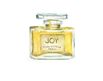 Watercolor Joy Perfume, Joy Perfume Bottle Print, Joy Perfume Print