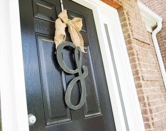 Wooden Letter Door Hanger, Monogram, Front Door, Oversize Wood Letter, Large