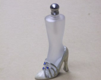 Vintage Leg and High Heel Perfume Bottle,Frosted Glass