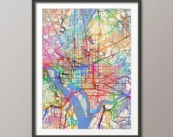 Washington DC Map, City Street Map Art Print (2068)