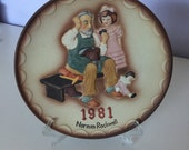 """Norman Rockwell 1981 '' The shoemaker """" collector plate"""