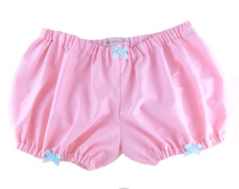 Bloomers pink with bows S M L low rise short underwear cotton victorian japanese fashion harajuku kawaii cute