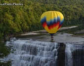 Hot Air Balloon, Letchworth State Park, Fine Art Photograph, all sizes available, Landscape Photography, Waterfall Photos,