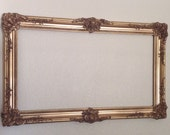20% off thru 10/21!  Rectangle Ornate French Hollywood Regency Mirror Open Frame