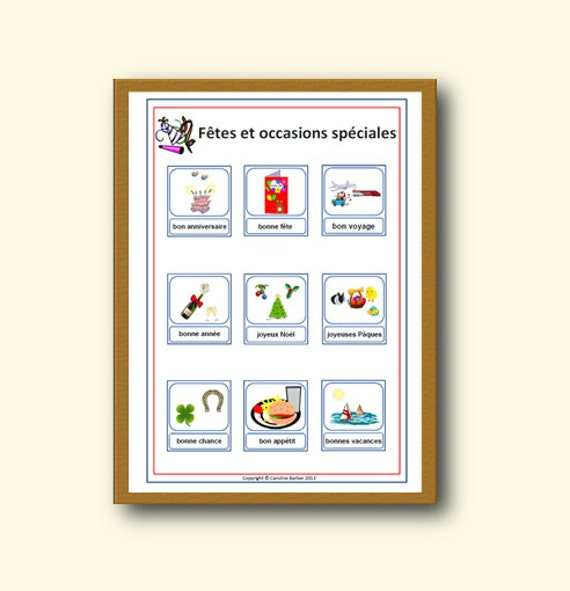 Classroom Decor Items : Items similar to celebrations french school poster