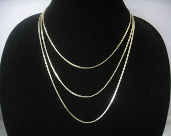 "SALE NAPIER Extra Long Silver Tone Chain Necklace in Interesting Link Design.  Just under 60"" Long."