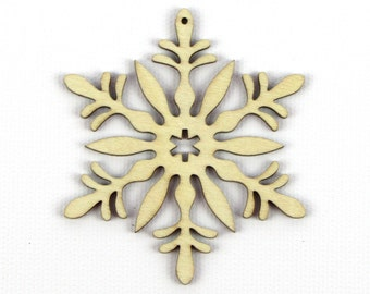 Floral Bouquet - Laser Cut Wood Snowflake in Multiple Sizes and Quantity Discounts