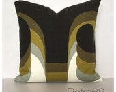 "16"" x 16"" Throw Pillow Cover 1960s Vintage Omega Fabric Barbara Brown For Heals Of London"